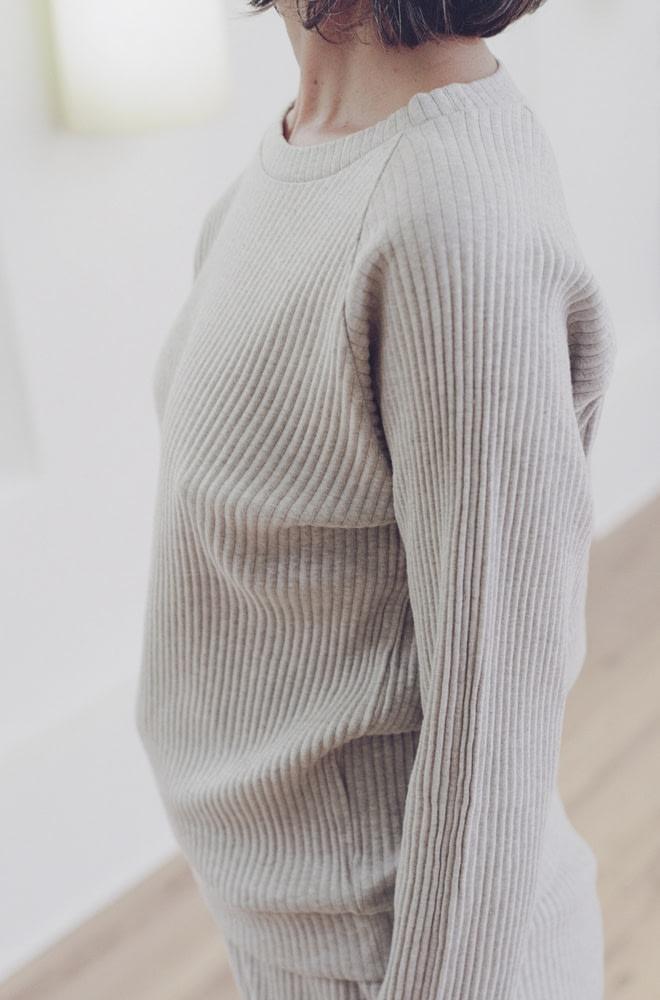 Baserange Basic Sweat Grey Melange