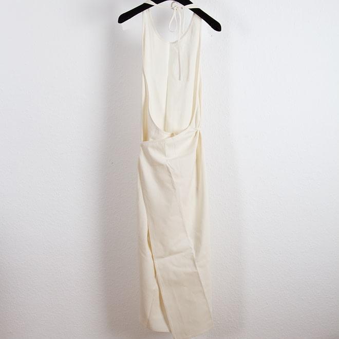 Apron Dress - Raw Silk-4615