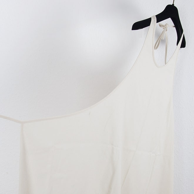 Apron Dress - Raw Silk-4616