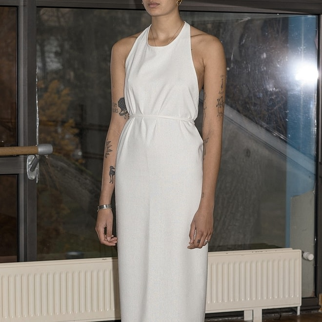 Apron Dress - Raw Silk-0