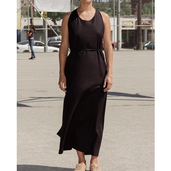Apron Dress - Raw Silk-4597