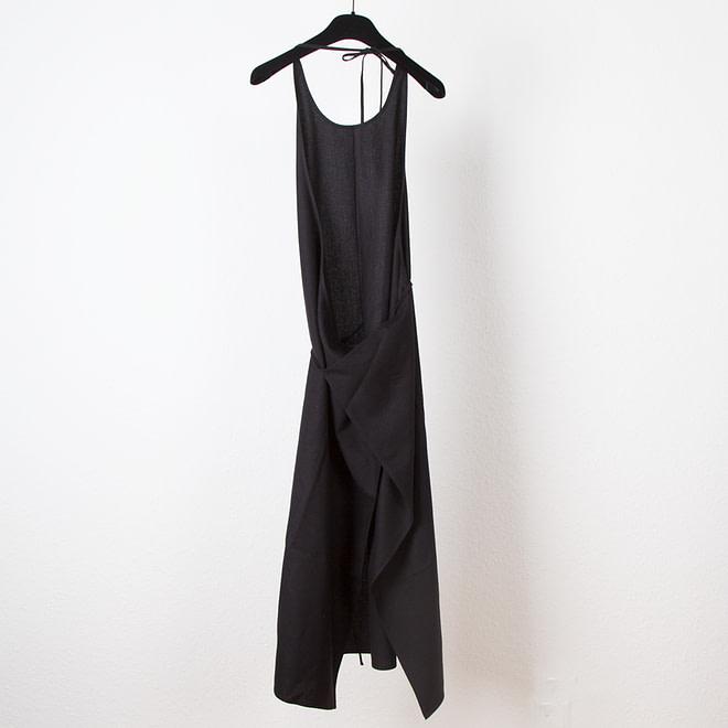 Apron Dress - Raw Silk-4203