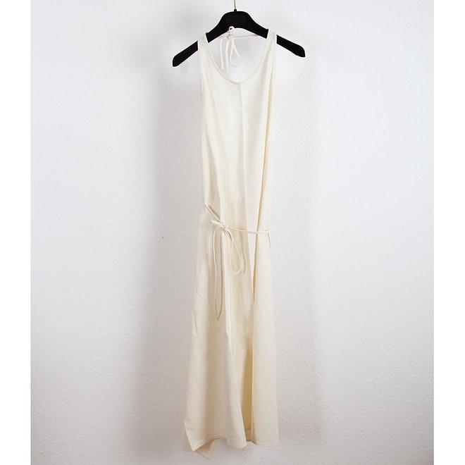 Apron Dress - Raw Silk-4613