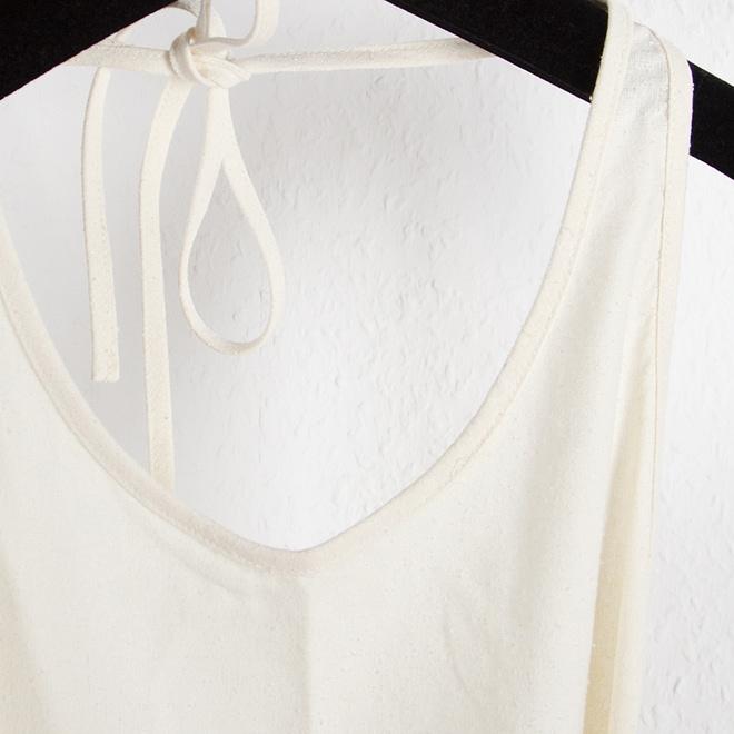 Apron Dress - Raw Silk-4614