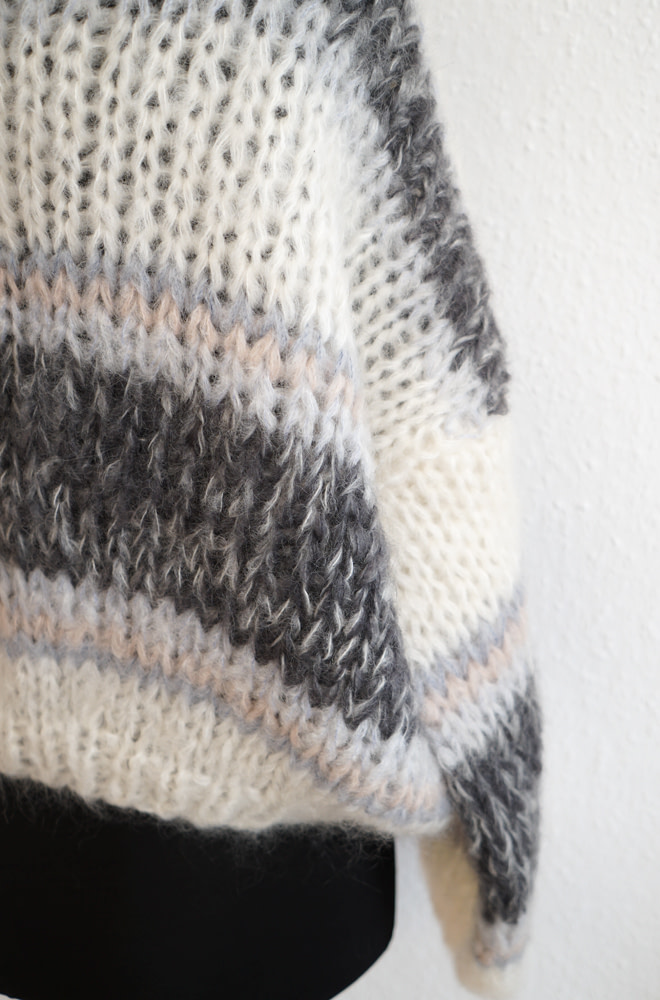 Maiami Mohair Big Sweater, Striped | chic edition