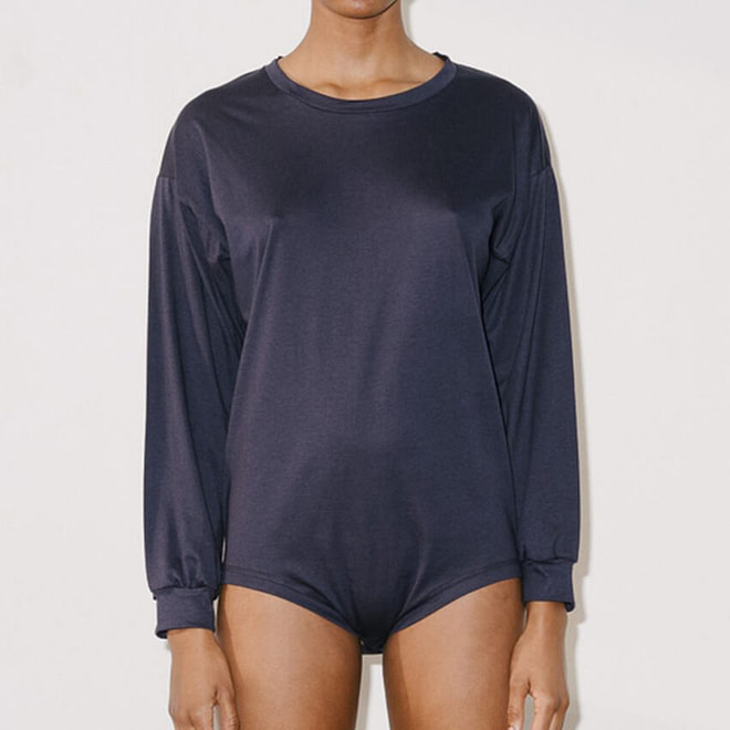 BASERANGE Michael Tee Body - Cotton Silk | chic edition